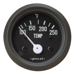 Pricol 300545 - Pricol Temp Gauge Elect 100-250F Black