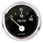 Pricol 300583 - Pricol Oil Press Gauge Elec 0-100psi Chr